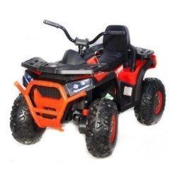 Электроквадроцикл XMX607 Т007МР красный (задний привод, колеса резина, кресло кожа, ПУЛЬТ, музыка)