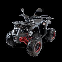 Подростковый квадроцикл бензиновый MOTAX ATV Grizlik Super LUX 125 cc черно-красный (электростартер, длинноходная подвеска, до 65 км/ч)